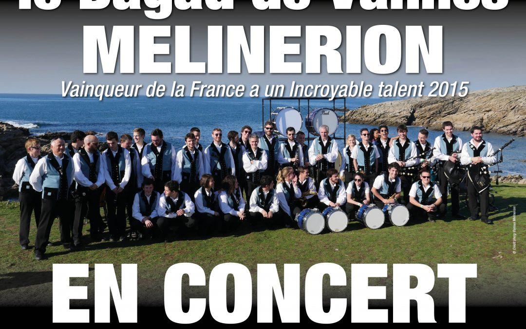 Le Bagad de Vannes Melinerion en concert à Quiberon le 13 aout 2018