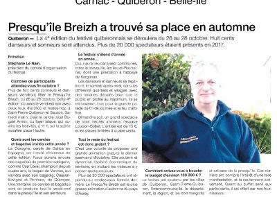 OUEST FRANCE - 22/09/18